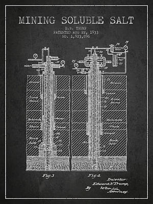 Machinery Digital Art - 1933 Mining Soluble Salt Patent En40_cg by Aged Pixel