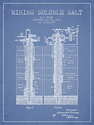 Machinery Digital Art - 1933 Mining Soluble Salt Patent En40_lb by Aged Pixel