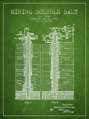 Machinery Digital Art - 1933 Mining Soluble Salt Patent En40_pg by Aged Pixel