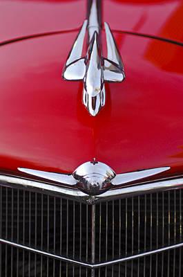 Historic Vehicle Photograph - 1933 Oldsmobile Hood Ornament -0634c by Jill Reger