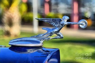Collectible Painting - 1933 Packard Super Eight Emblem by George Atsametakis