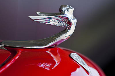 1933 Plymouth Custom Coupe Hood Ornament Art Print