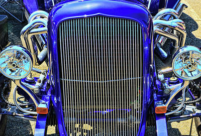 Photograph - 1933 Plymouth Hot Rod Grill by Allen Beatty