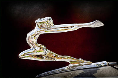 Photograph - 1934 Buick Goddess Hood Ornament -174ac by Jill Reger