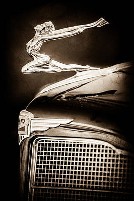 Photograph - 1934 Buick Series 96-c Convertible Coupe Hood Ornament - Emblem -0527s by Jill Reger