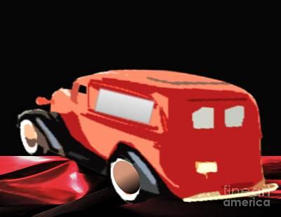 Painting - 1934 Chevy Sedan by Belinda Threeths