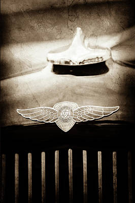 Photograph - 1934 Dodge Flat Bed Pickup Truck Emblem -1813s by Jill Reger