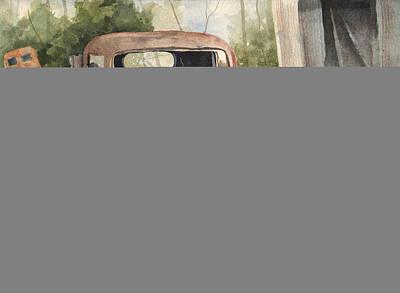 Junk Painting - 1934 Dodge Half-ton by Sam Sidders