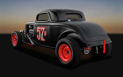 Photograph - 1934 Ford 3 Window Coupe  -  1934fd3wincpe9833 by Frank J Benz