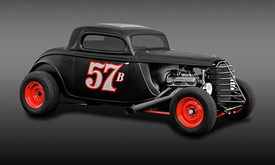 Photograph - 1934 Ford 3 Window Coupe  -  1934fdcpefa9719 by Frank J Benz
