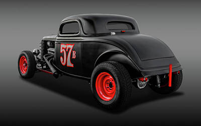 Photograph - 1934 Ford 3 Window Coupe  -  1934fdcpefa9833 by Frank J Benz
