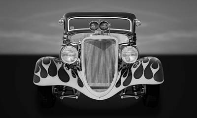Photograph - 1934 Ford 3-window Coupe  -  34fbfrtbw by Frank J Benz