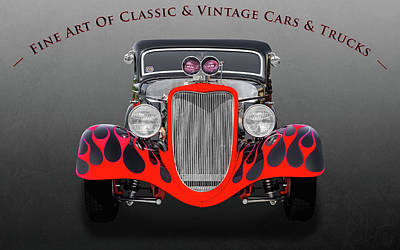 Photograph - 1934 Ford 3-window Coupe  -  34fd2847 by Frank J Benz