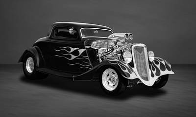 Photograph - 1934 Ford 3-window Coupe  -  34fdbw44 by Frank J Benz