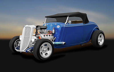 Photograph - 1934 Ford Convertible  -  1934fordhemiconvertible184120 by Frank J Benz