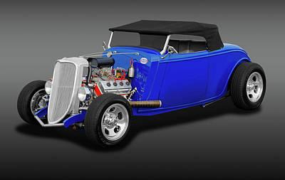 Photograph - 1934 Ford Convertible  -  1934hemifordcvfa170850 by Frank J Benz