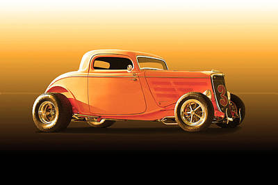 Animal Paintings David Stribbling Royalty Free Images - 1934 Ford Coupe Lakester II Royalty-Free Image by Dave Koontz