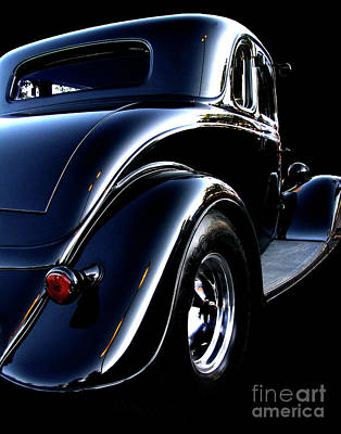 Chrome Photograph - 1934 Ford Coupe Rear by Peter Piatt