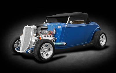 Photograph - 1934 Ford Hemi V8 Convertible  -  1934fordhemiconvertibleringlght184120 by Frank J Benz