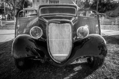 Photograph - 1934 Ford Hot Rod Bw by Rich Franco