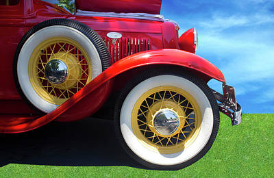 Photograph - 1934 Ford Pickup Front by Carlos Diaz