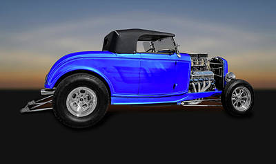 Photograph - 1932 Ford Roadster Convertible Coupe  -  32fordroadstercv0100 by Frank J Benz