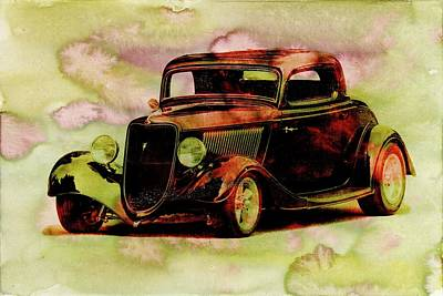 Photograph - 1934 Ford Stain by Steve McKinzie