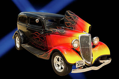 Photograph - 1934 Ford Street Rod Classic Car 5545.04 by M K  Miller
