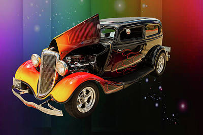 Photograph - 1934 Ford Street Rod Classic Car 5545.07 by M K  Miller