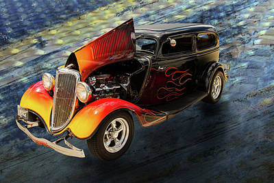 Photograph - 1934 Ford Street Rod Classic Car 5545.09 by M K  Miller