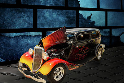 Photograph - 1934 Ford Street Rod Classic Car 5545.10 by M K  Miller