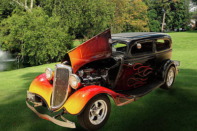 Photograph - 1934 Ford Street Rod Classic Car 5545.11 by M K  Miller