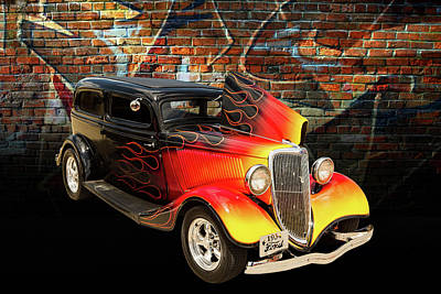 Photograph - 1934 Ford Street Rod Classic Car 5545.12 by M K  Miller