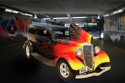 Photograph - 1934 Ford Street Rod Classic Car 5545.15 by M K  Miller