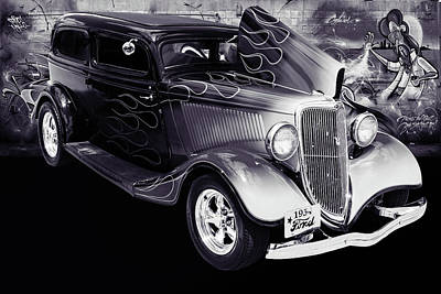 Photograph - 1934 Ford Street Rod Classic Car 5545.52 by M K  Miller