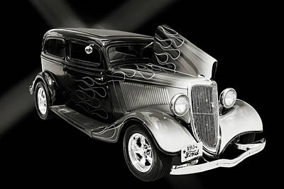 Photograph - 1934 Ford Street Rod Classic Car 5545.53 by M K  Miller