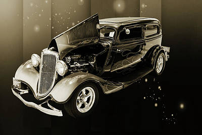 Photograph - 1934 Ford Street Rod Classic Car 5545.56 by M K  Miller