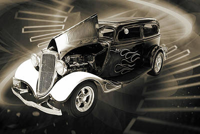 Photograph - 1934 Ford Street Rod Classic Car 5545.57 by M K  Miller
