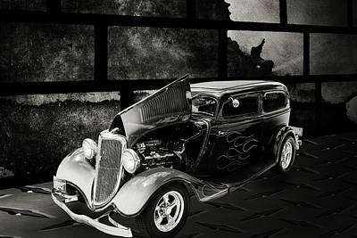 Photograph - 1934 Ford Street Rod Classic Car 5545.59 by M K  Miller