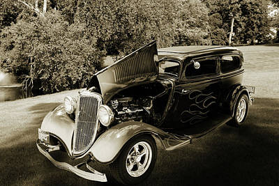 Photograph - 1934 Ford Street Rod Classic Car 5545.60 by M K  Miller