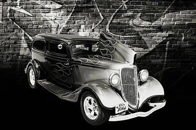 Photograph - 1934 Ford Street Rod Classic Car 5545.61 by M K  Miller