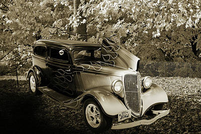 Photograph - 1934 Ford Street Rod Classic Car 5545.62 by M K  Miller