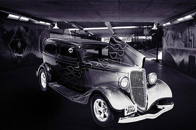 Photograph - 1934 Ford Street Rod Classic Car 5545.64 by M K  Miller