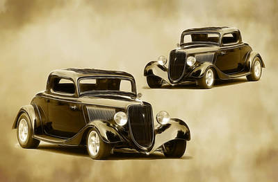 Photograph - 1934 Fords by Steve McKinzie