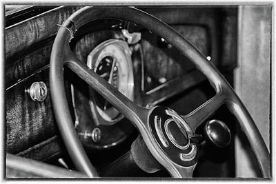 Photograph - 1934 Graham Steering Wheel by Mike Martin