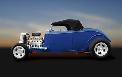 Photograph - 1934 Hemi Ford Convertible  -  1934hemifordconvertible184119 by Frank J Benz