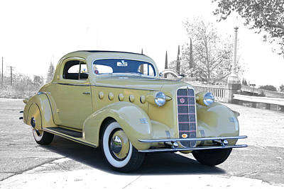 Automotive Art Series Wall Art - Photograph - 1934 Lasalle Series 350 Coupe by Dave Koontz