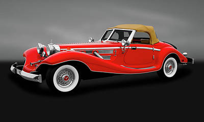 Photograph - 1934 Mercedes 500k Roadster  -  1934mercedesroadstergry183864 by Frank J Benz