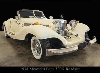 Photograph - 1934 Mercedes Benz 500k Roadster by Chris Flees