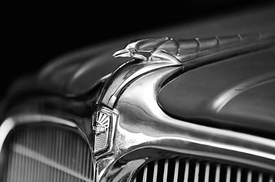 Photograph - 1934 Nash Ambassador 8 Hood Ornament 2 by Jill Reger